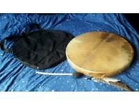 Lot 60cm Goat Skin Shaman Drum with bag & Drumstick New Collection Only Tribal Gorgeous