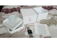Mint condition Series 1 Apple iWatch 42mm Stainless Steel Case and Stainless Steel Milanese Strap