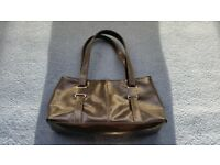 F&F Dark Brown Handbag, Shoulder Handbag, Zips, Good condition, Contact me soon as, Cheap price £3