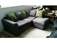 NEW Graded Grey Fabric Corner Sofa Suite FREE LOCAL DELIVERY