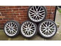 "MINI 18"" john cooper works wheels and tyres x 4"