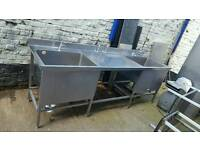 Commercial catering stainless steel kitchen sink