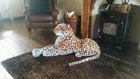 Extra large leopard soft toy