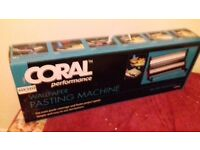 Coral wall paper pasting machine