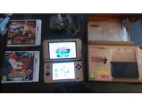 Limited Edition Gold Nintendo 3DS Zelda A Link Between Worlds + 3 x 3DS games and 6 normal DS games