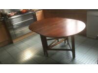 Drop leaf, oval wooden dining table, 1970's?