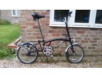 Brompton Folding Bicycle 3 Speed Black