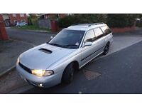 1995 Subaru Legacy GT Twin Turbo estate jap import, silver, 12 months MOT, 105,000km