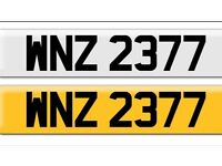 WNZ 2377 private cherished personalised personal registration plate number cheap