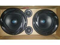 """6.5"""" car subwoofer speakers and tweeters brand new unused"""