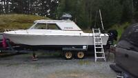 22 1/2 ft fiberform cabin cruiser