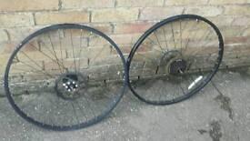 Pair of bike wheels