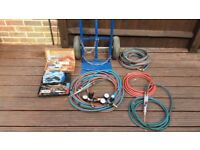 Welding oxygen and acetylene torch and accessories