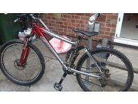 man mountain bike