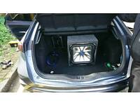 Car audio fitting subwoofers amplifiers head units stereo and speakers