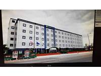 Holiday Inn express Royal Docks London. One night's double room with breakfast Fri 28th July 2017