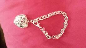 Sterling silver chunky bracelet.