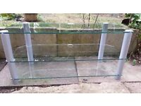 large nearly 4ft useful tempered glass tv stand