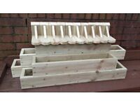 NEW FLOWER PLANTERS FOR SALE! MUST SEE! LARGE RANGE,MANY COLOURS,QUALITY WOODEN PLANTERS
