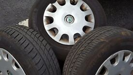 steel wheels 175/80/R14 perfect condition