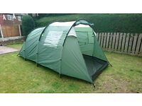 TRESPASS 4 PERSON LARGE TUNNEL TENT RRP £89