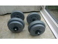 Set of two 7.5kg vinyl dumbbells
