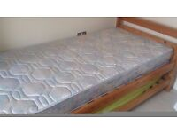 Doble single bed with mattress