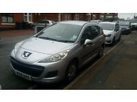 PEUGEOT 207 SW ESTATE 2010 1.6 DIESEL 12 MONTHS M.O.T £30 ROAD TAX