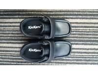 Boys black kickers shoes