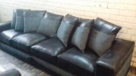4str.sofa black and grey.