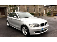 2007 BMW 118D SE 3 DOORS SILVER, 12 MONTHS MOT, NEW CHAIN, F/S/H, 2OWNERS,£30 TAX, CLEAN 1 SERIES