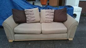 GORGEOUS FABRIC SOFA 3 seater in MINT CONDITION