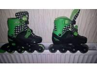 Adjustable (13 to 3) inline kids skate boots