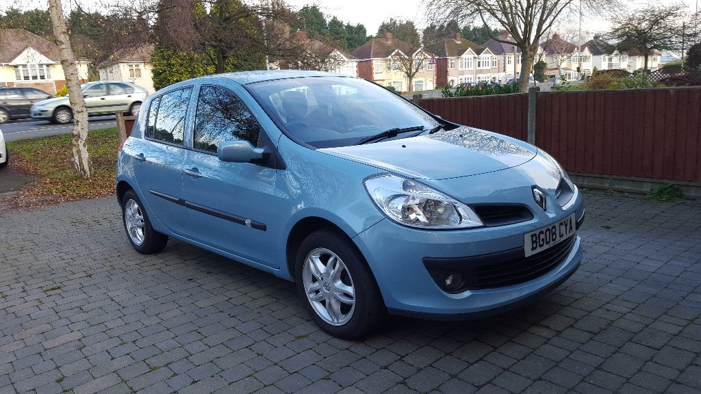 2008 renault clio 1 2 expression turbo 100 blue alloy wheels great mpg in hinckley. Black Bedroom Furniture Sets. Home Design Ideas