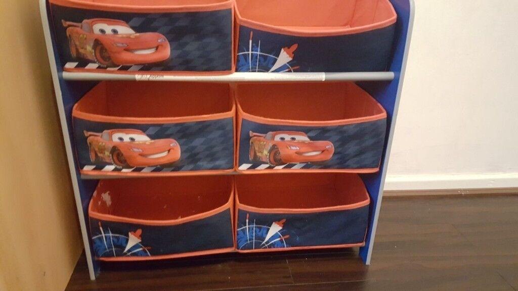 Disney cars kids toy storage unit
