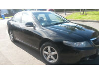 LOVELY 2005 BLACK HONDA ACCORD WITH MOT TIL MARCH 2019 2 OWNERS 2 KEYSFULL LEATHER GREAT CAR