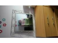 as new large metal frame modern stylish mirror