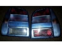 Blue tail lights