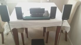 Sony Blu-ray 5.1 surround system with rear speaker stands
