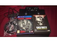 PS4 500gb. Unboxed. Two games and controller