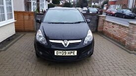 Vauxhall Corsa SXi 2009 Black Excellent Condition Low Mileage 29170 12 months MOT