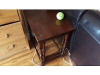 cupboard, sofa set, small stools, desks