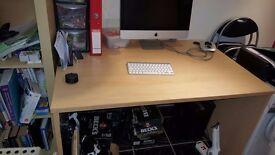 Beech Desk Large for imac, apple, or pc