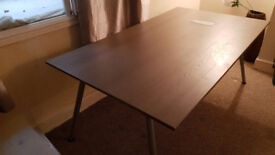IKEA Galant Large Grey Desk/Table with adjustable legs