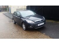 2008 FORD FOCUS ZETEC 1.6 PETROL 5 HATCHBACK BLACK 12 MONTHS MOT JUST BEEN SERVICED