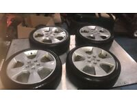 4 Vauxhall alloy wheels and tyres