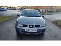 SEAT LEON 2003 1.4 PETROL..HPI CLEAR..STARTS AND DRIVES EXCELLENT.