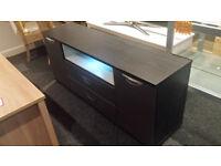 EX-DISPLAY BLACK/GREY LED LIGHT TV STAND/SIDEBOARD
