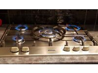 Stoves 5 Gas Hob Stainless Steel & cast iron supports