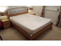 King Size Wooden Bed - Excellent Condition